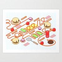 Tasty Visuals - Squeeze … Art Print