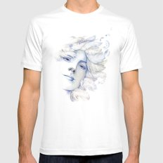 Goddess: Air SMALL White Mens Fitted Tee