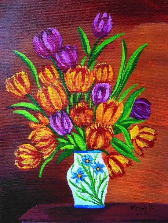 Valentine's bouquet Art Print