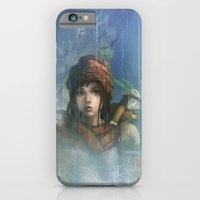 iPhone & iPod Case featuring girl in the abyss  by Tyler Edlin Art