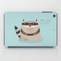 Sneaky Raccoon iPad Case