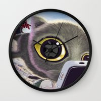 Falling Cat & Hero Wall Clock