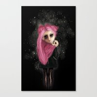 My dark being Canvas Print