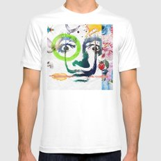 Salvador Dalí White Mens Fitted Tee SMALL