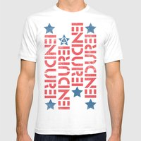 ENDURE STENCIL Mens Fitted Tee White SMALL