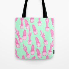 cactus pink and blue Tote Bag