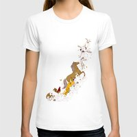 Magic Paintbrush Womens Fitted Tee White SMALL