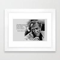 BUKOWSKI - People Quote  Framed Art Print