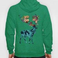 Sprint Itself Deer Floral Dark Hoody