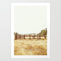 Fence Standing Art Print