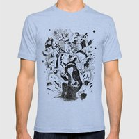 The Great Horse Race! B&W Edition Mens Fitted Tee Tri-Blue SMALL