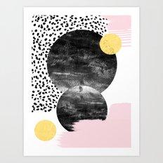 Roussel - Pink Pastel Gi… Art Print