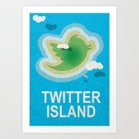 Twitter Island Art Print