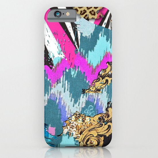 Fashion | Chic aztec pink teal zebra stripes leopard pattern iPhone & iPod Case