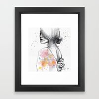 Implosion, Watercolor Wi… Framed Art Print
