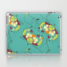 Flower hearts pattern Laptop & iPad Skin