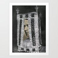 Bed Man Art Print
