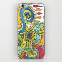 colourful doodle iPhone & iPod Skin