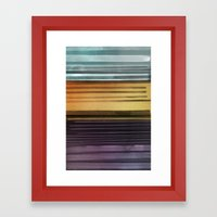 Amanda Wants Stripes Framed Art Print