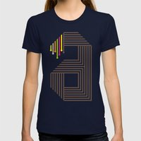 A Like A Womens Fitted Tee Navy SMALL