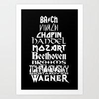 Composers Art Print