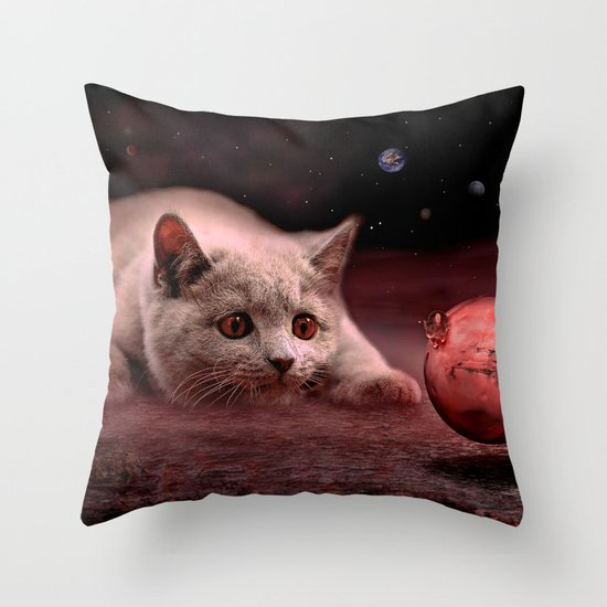 Mouse on Mars Throw Pillow