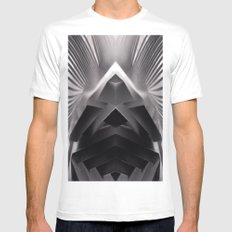 Paper Sculpture #7 SMALL Mens Fitted Tee White