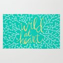 Wild at Heart – Turquoise Rug