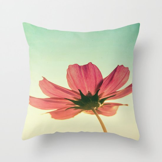 Vintage Airy Cosmos Throw Pillow