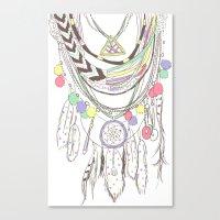 Tribal Necklace Canvas Print