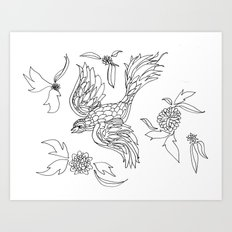 Bird in Paradise Art Print