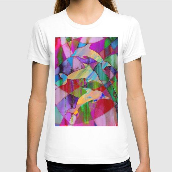 Caught in rainbow nets T-shirt