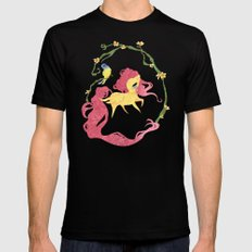 Fluttershy Mens Fitted Tee SMALL Black