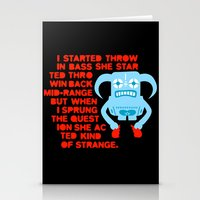 I started throwing bass Stationery Cards