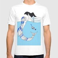 Pisces / 12 Signs Of The… Mens Fitted Tee White SMALL