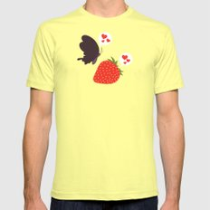 the death loves the strawberry SMALL Lemon Mens Fitted Tee