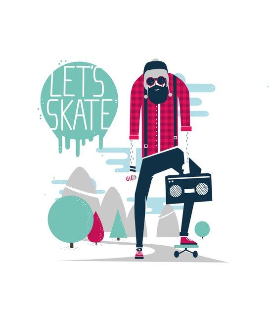 Let's skate  Art Print
