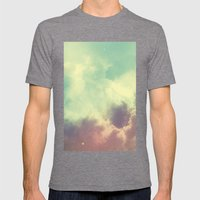 Nebula 3 Mens Fitted Tee Tri-Grey SMALL