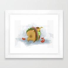 Sandwich Dog Framed Art Print