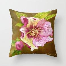 Lenten Rose Throw Pillow