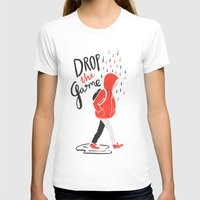 Drop The Game Womens Fitted Tee White SMALL