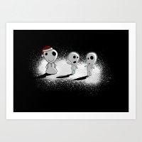 Snowdama Art Print