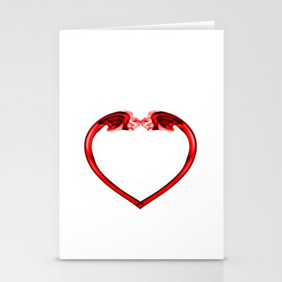 Love Smoke Red 2 Stationery Card
