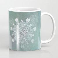 Turquoise Batik Mandala … Mug