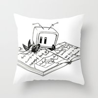 Computer Research Throw Pillow