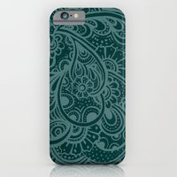 Teal Paisley iPhone 6 Slim Case