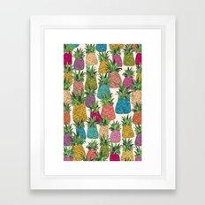 West Coast pineapples Framed Art Print