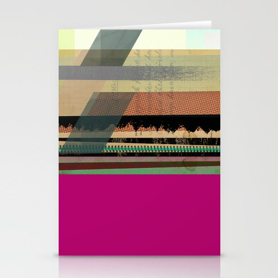 Pink Block Stationery Card