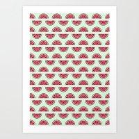 Watermelon Love Art Print