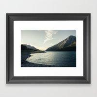 Rocky Mountain Lake At D… Framed Art Print